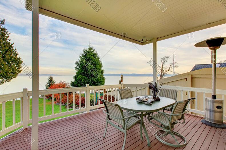 Stunning outdoor deck